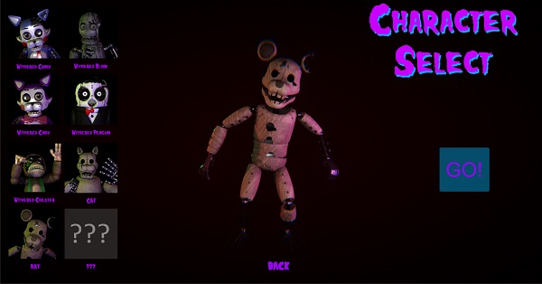 Five Nights at Candy's 2 Playable Animatronics REMASTERED